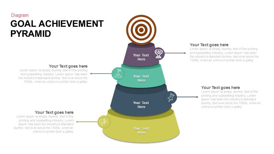 Goal Achievement Pyramid Keynote and Powerpoint template
