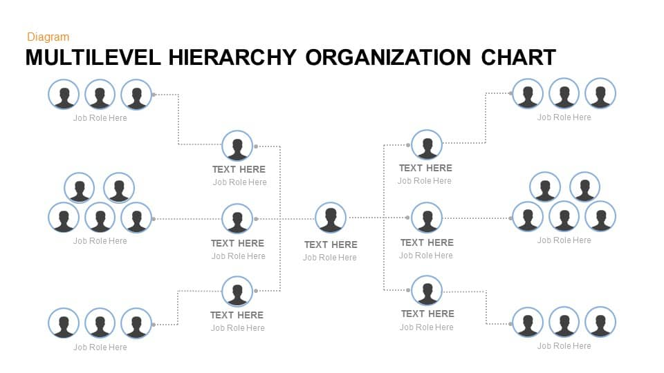 multilevel hierarchy organization chart keynote and