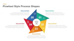 Pinwheel Style Process Shapes Keynote and Powerpoint template