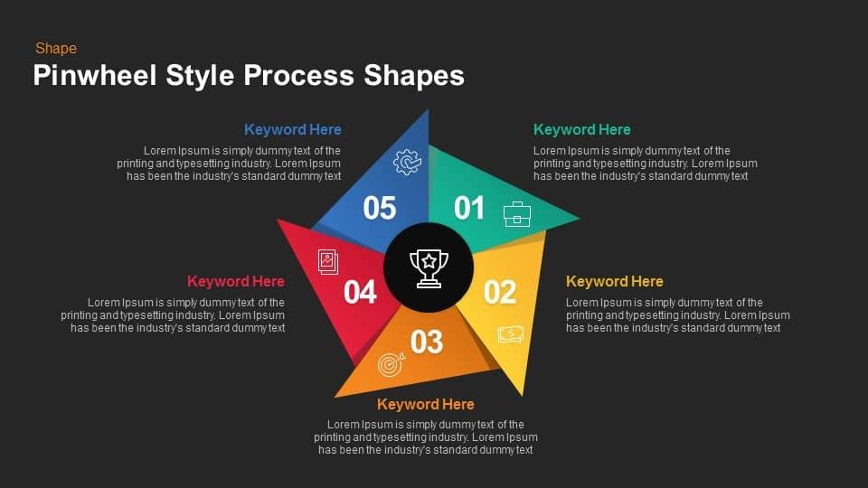 Pinwheel style process shapes keynote and powerpoint template pinwheel style process shapes keynote and powerpoint template toneelgroepblik Images