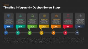 Timeline Infographic Design Seven Stage Keynote and Powerpoint template