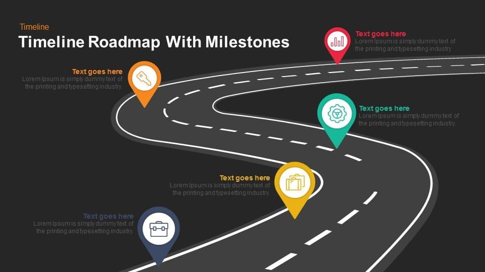 timeline roadmap with milestones keynote and powerpoint template slidebazaar. Black Bedroom Furniture Sets. Home Design Ideas