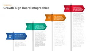 Infographic Growth Sign Board PowerPoint Template and Keynote Slide