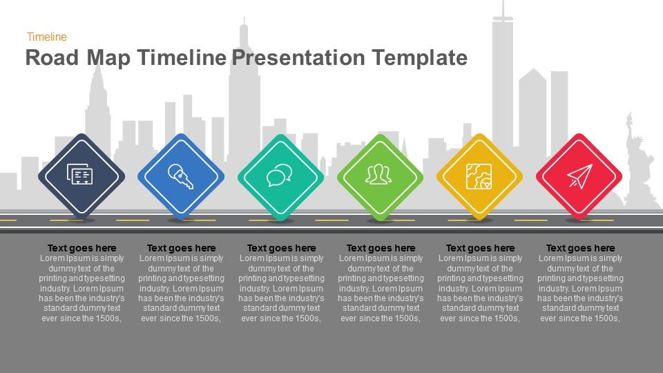 road map timeline presentation template