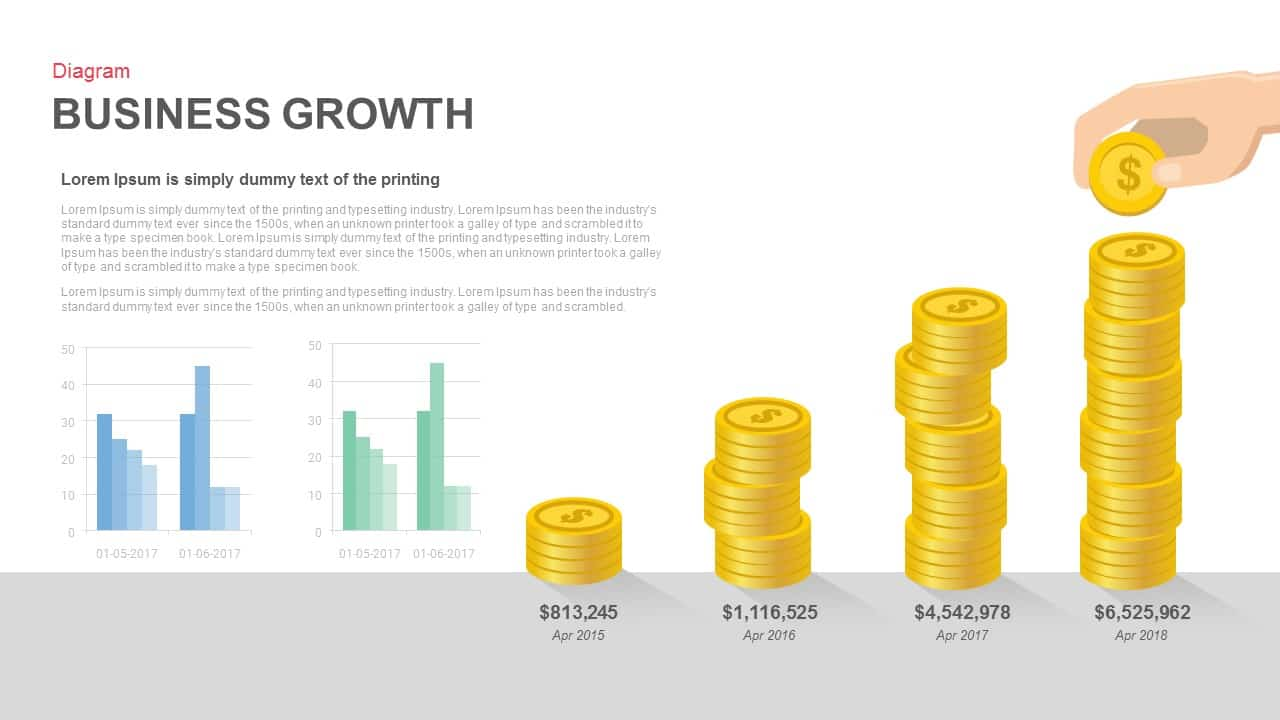 Business growth Powerpoint and Keynote template
