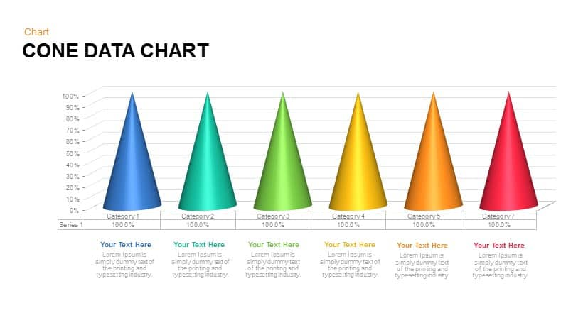 Cone Data Chart Powerpoint template
