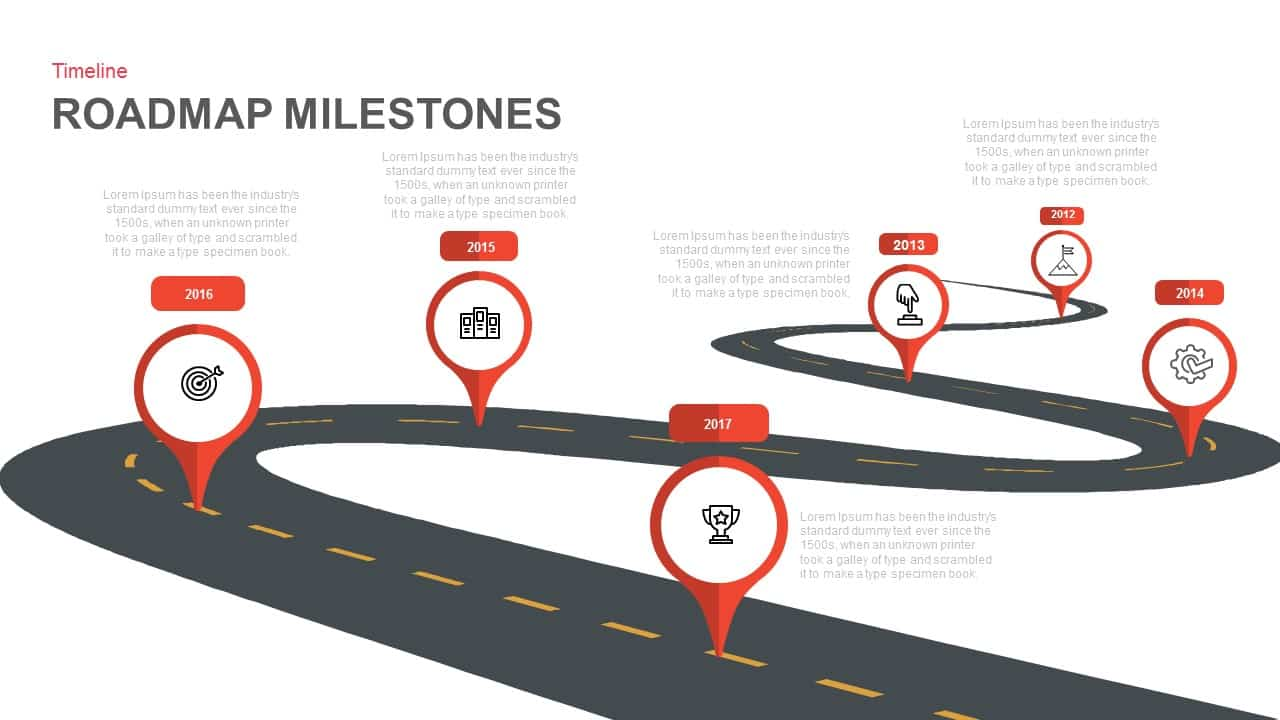 Roadmap Milestones Powerpoint And Keynote Template SlideBazaar - Keynote roadmap template