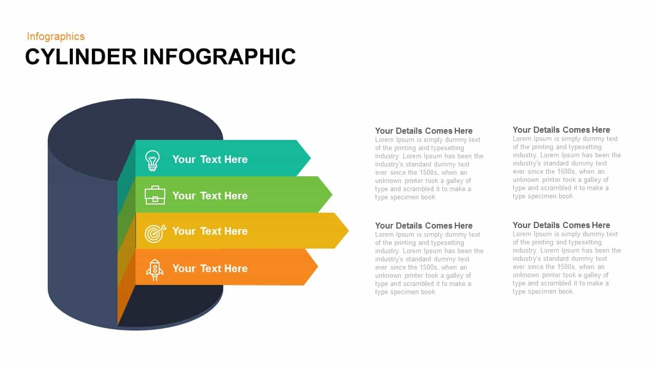 Cylinder Infographic Powerpoint and Keynote template