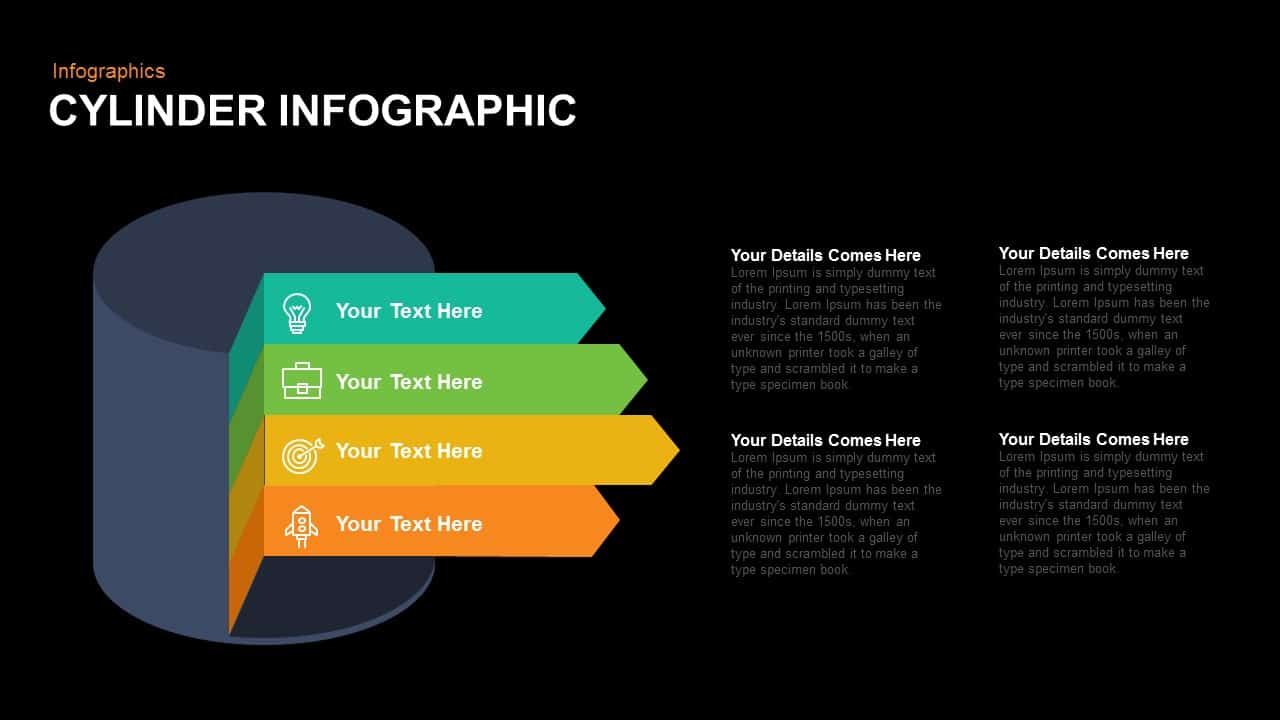 Infographic Cylinder PowerPoint Template and Keynote