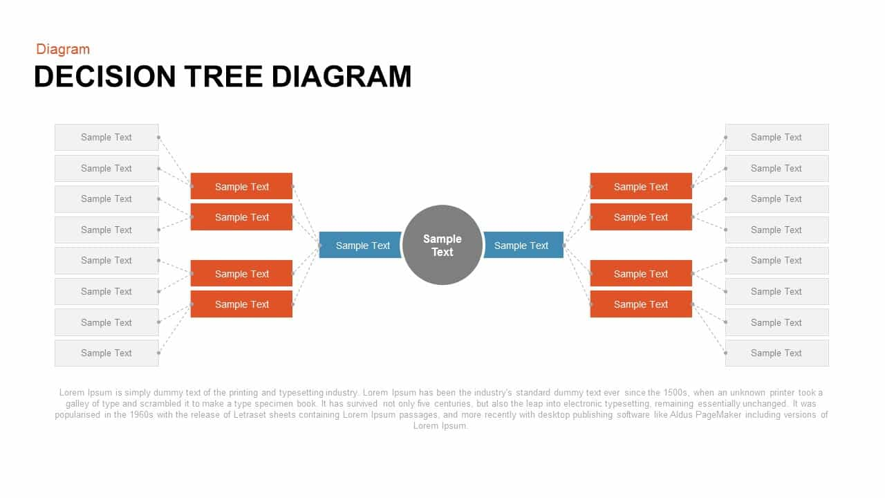 decision tree powerpoint template and keynote diagram