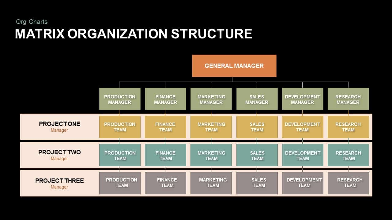 Matrix Organization Structure Powerpointe
