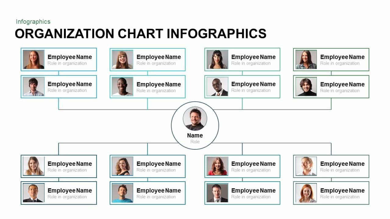 organization chart infographics powerpoint and keynote