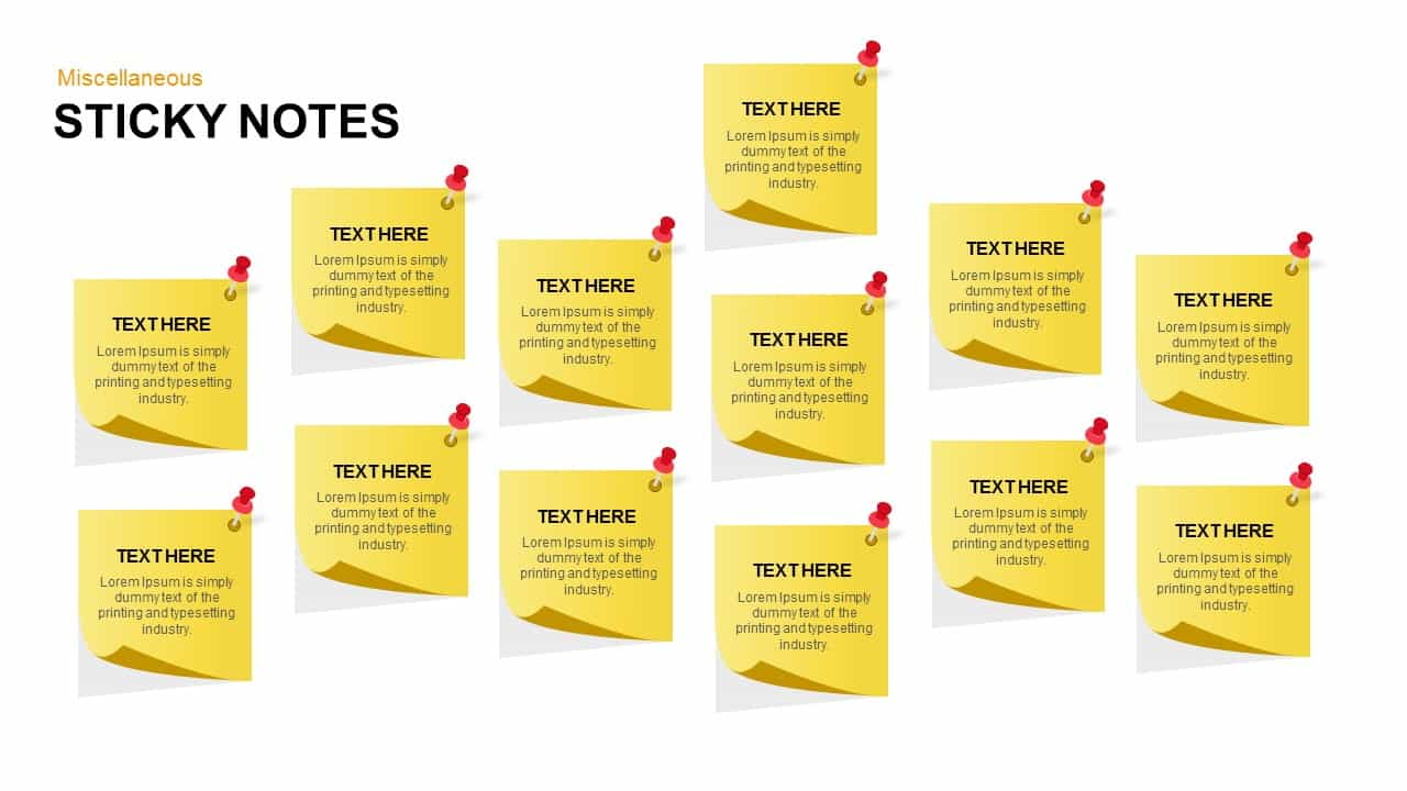 post it notes powerpoint and keynote template slidebazaar
