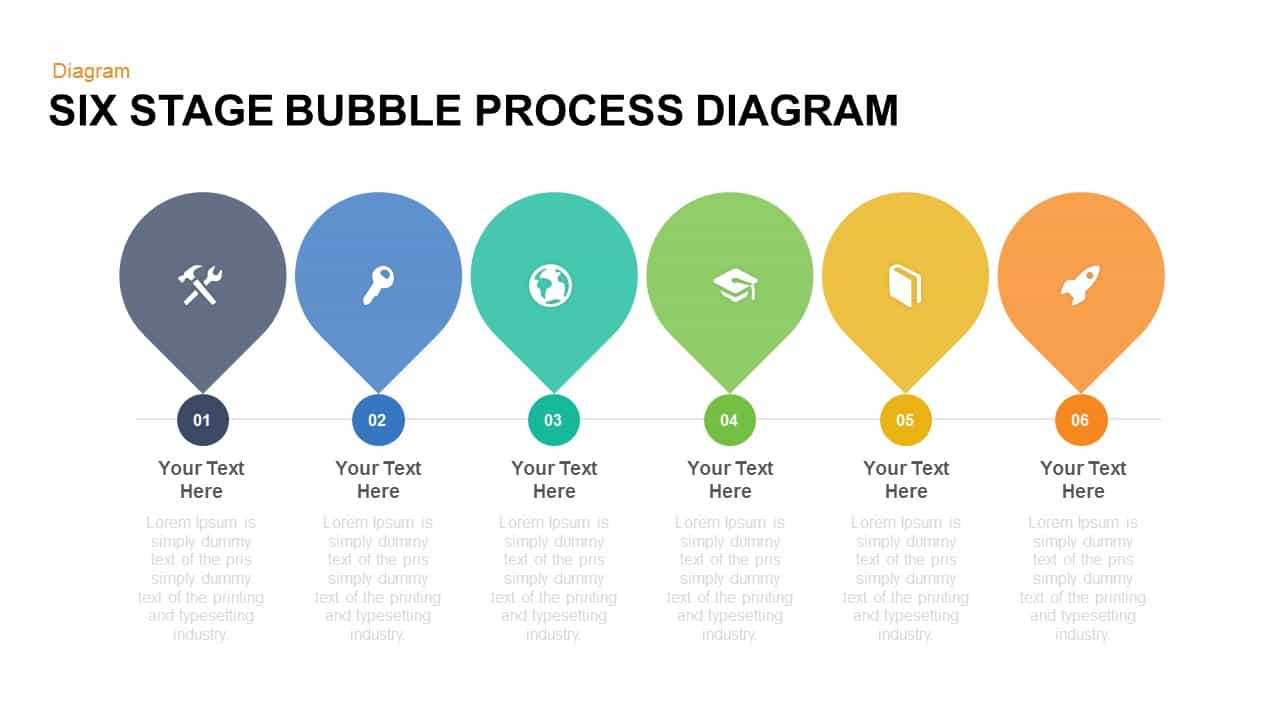 Six stage bubble process diagram free powerpoint and keynote six stage bubble process diagram free powerpoint and keynote template ccuart Choice Image