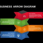 4 Staged Business Arrow Diagram Powerpoint template