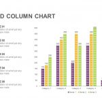 Clustered Column Chart Powerpoint and Keynote template