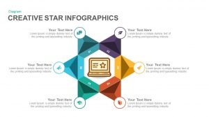 Creative Infographics Star PowerPoint Template and Keynote Slide
