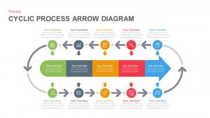 Cyclic Process Arrow Diagram PowerPoint Template and Keynote