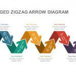 Eight Staged Zigzag Arrow Diagram Powerpoint and Keynote template