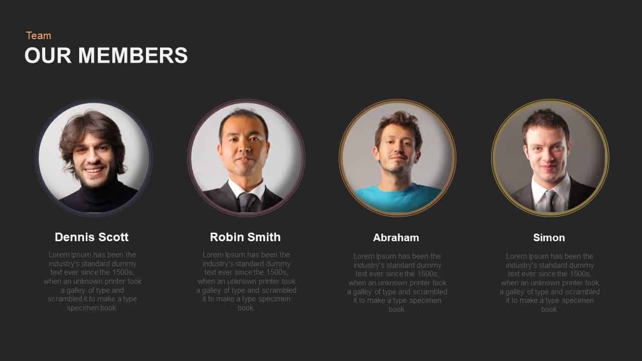 Our Team Member Powerpoint and Keynote template - SlideBazaar