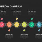 Two Side Arrow Diagram Powerpoint template