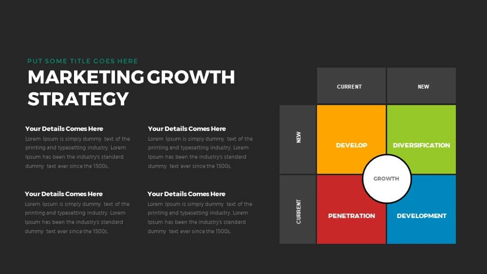 marketing growth strategy powerpoint and keynote template