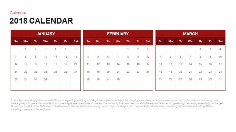 2018 calendar powerpoint and keynote template slidebazaar 2018 calendar powerpoint and keynote template toneelgroepblik