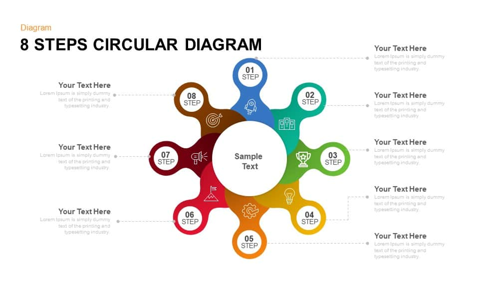 8 step circular diagram PowerPoint template and keynote