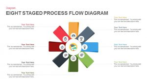 Eight Staged Process Flow Diagram PowerPoint Template and Keynote