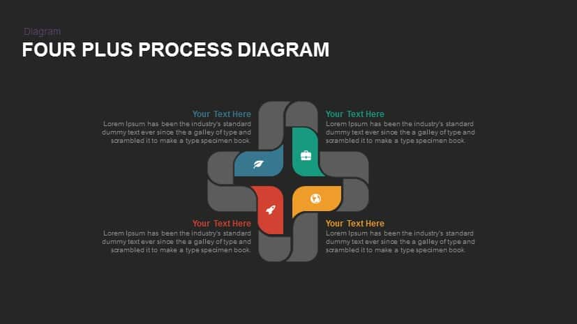 Four Plus Process Diagrams Powerpoint and Keynote template