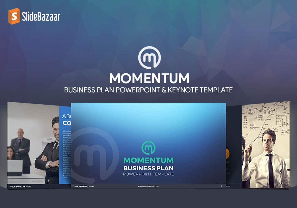 Momentum Business Plan PowerPoint And Keynote Template SlideBazaar - Keynote business plan template