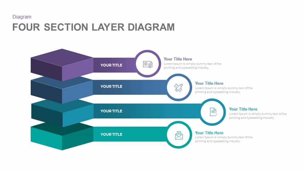 Four Section Layer Diagram Powerpoint and Keynote template 4 section layer diagram powerpoint template and keynote slidebazaar