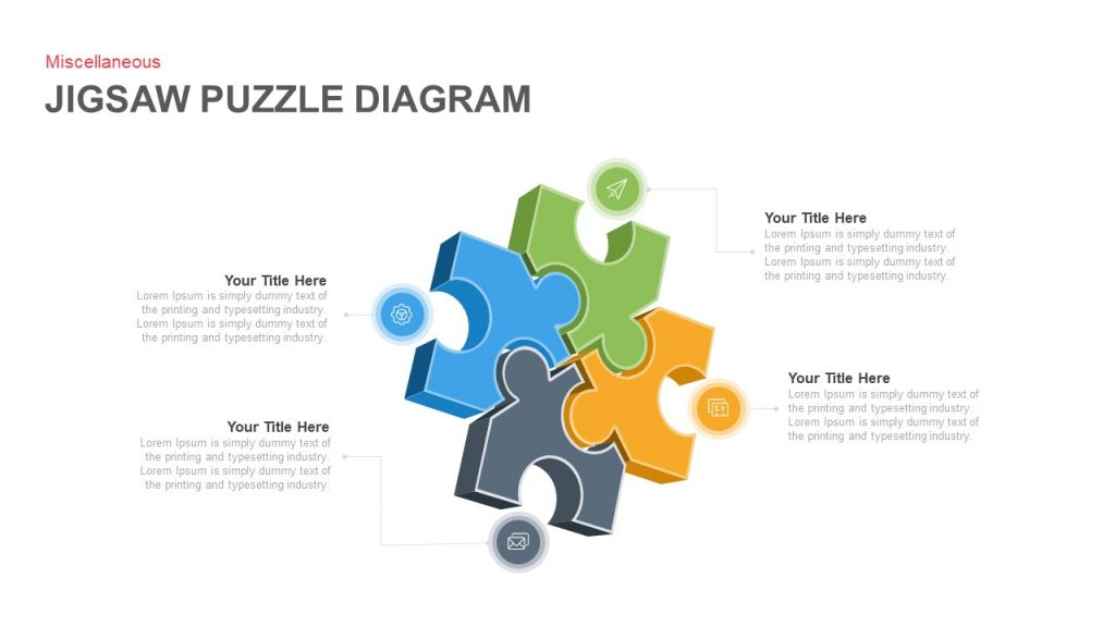 jigsaw puzzle diagram powerpoint and keynote template. Black Bedroom Furniture Sets. Home Design Ideas