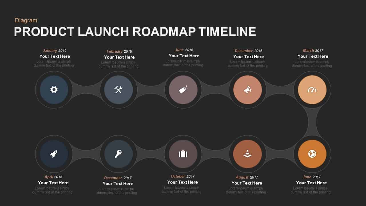 Product Launch Roadmap Timeline PowerPoint template