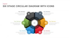6 Stage Circular Diagram with Icons PowerPoint and Keynote Template