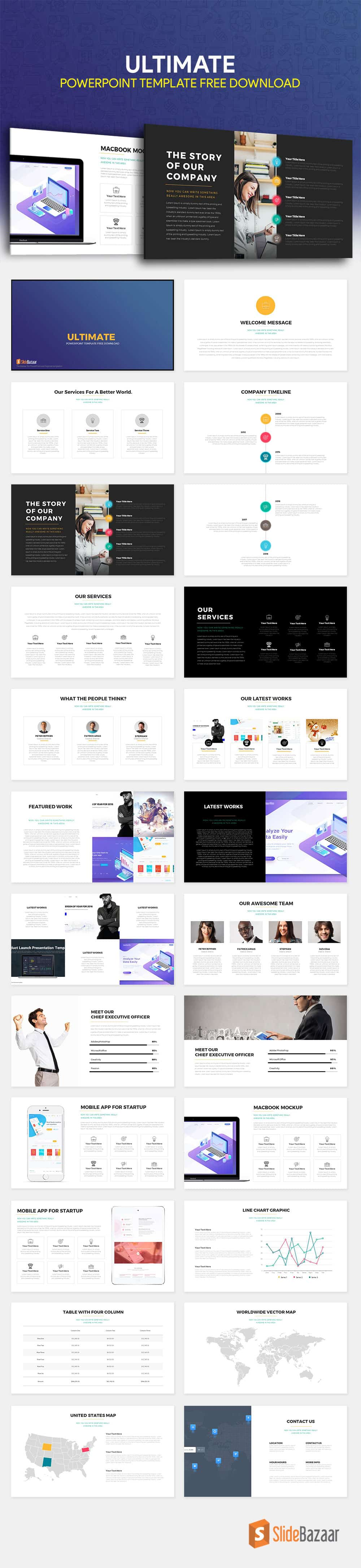 Ultimate free powerpoint template download slidebazaar ultimate free powerpoint template download toneelgroepblik Gallery