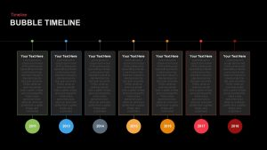 Bubble Timeline PowerPoint Template and Keynote Slide