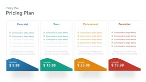 4 Pricing Plan Template for PowerPoint and Keynote Presentation
