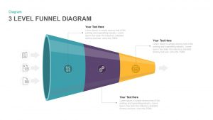3 Level Funnel Diagram Template for PowerPoint & Keynote