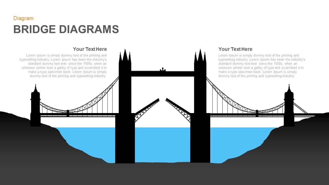 Bridge Diagrams PowerPoint and Keynote template