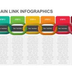 Linear Chain Link Infographics Powerpoint and Keynote template.