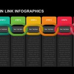 Linear Chain Link Infographics Powerpoint template.