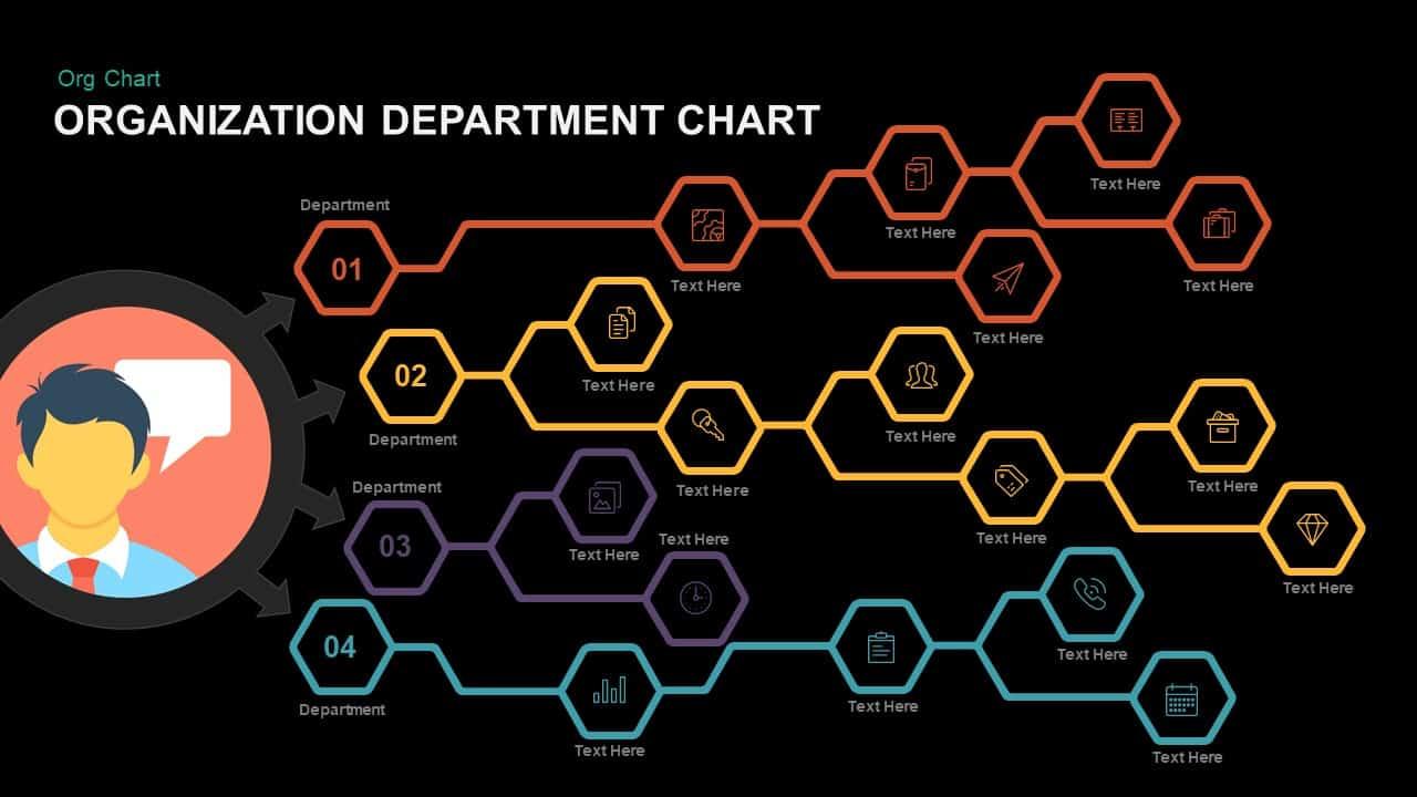 Organization Department Chart Powerpoint template
