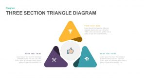 3 Section Triangle Diagram PowerPoint Template and Keynote Slide