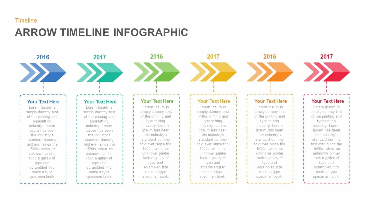 Arrow Timeline Infographic PowerPoint and Keynote template