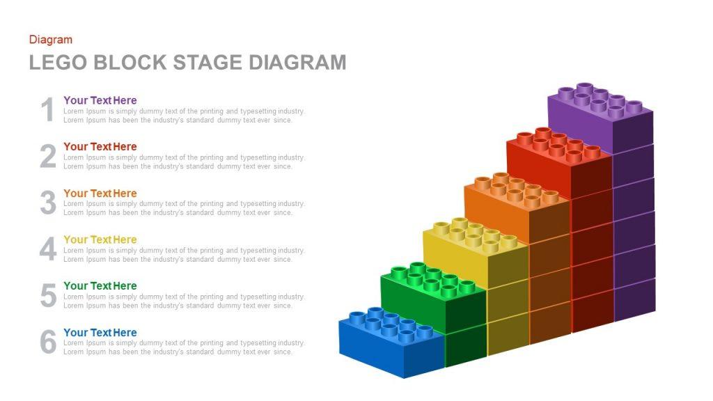lego block stage diagram powerpoint and keynote template slidebazaar. Black Bedroom Furniture Sets. Home Design Ideas