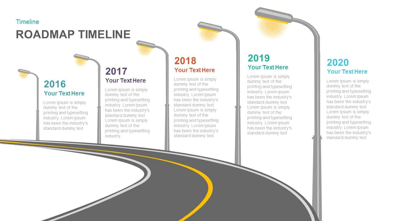 Timeline Roadmap PowerPoint Template And Keynote Template Slidebazaar - Roadmap timeline template