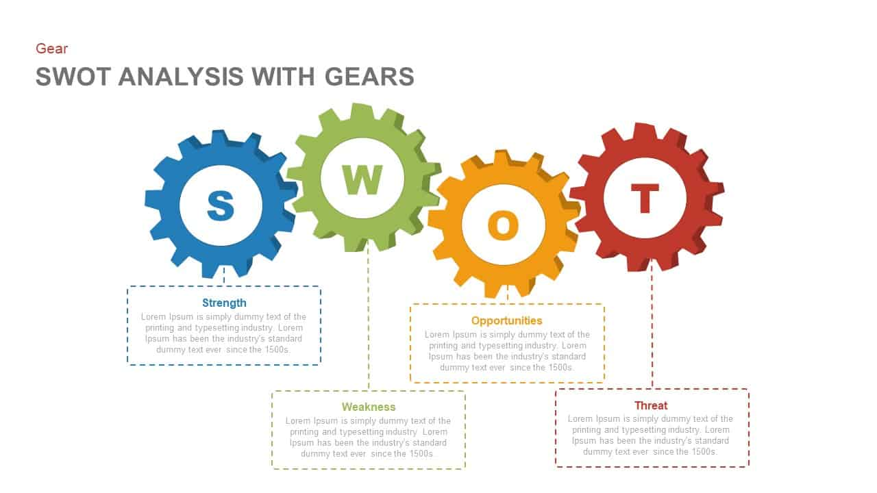 Swot analysis powerpoint template with gears keynote template swot analysis powerpoint template with gears and keynote template toneelgroepblik Choice Image