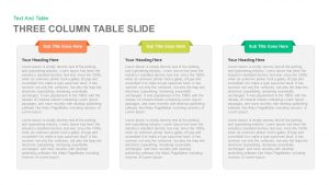 Three and Four Column Table Slide PowerPoint and Keynote template