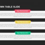 Three Column Table Slide template